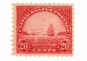 Golden gate stamp